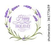 the lavender elegant frame with ... | Shutterstock .eps vector #361773659