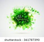hello spring  season banner... | Shutterstock .eps vector #361787390