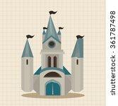 castle theme elements   Shutterstock .eps vector #361787498