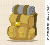 travel equipment backpack theme ... | Shutterstock .eps vector #361787684