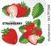 strawberry isolated on white... | Shutterstock .eps vector #361797068