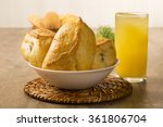 esfiha meat on the table with... | Shutterstock . vector #361806704