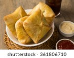 esfiha meat on the table with... | Shutterstock . vector #361806710