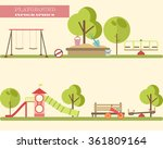 playground infographic elements ... | Shutterstock .eps vector #361809164