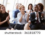 audience applauding speaker at... | Shutterstock . vector #361818770