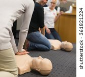 first aid cpr seminar. | Shutterstock . vector #361821224