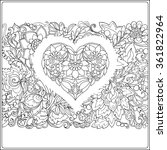hand drawn floral pattern and