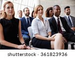 audience listening to speaker... | Shutterstock . vector #361823936