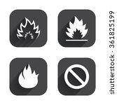 fire flame icons. prohibition... | Shutterstock .eps vector #361825199