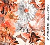 art vintage monochrome...   Shutterstock . vector #361825490