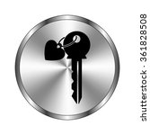 key with heart   vector icon  ... | Shutterstock .eps vector #361828508