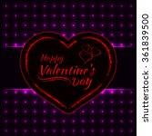 happy valentines day magenta... | Shutterstock . vector #361839500