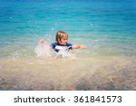 adorable kid having fun on... | Shutterstock . vector #361841573