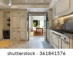Stock photo architecture domestic kitchen in classic style veranda view 361841576