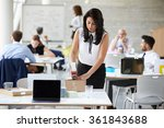 businesswoman in office... | Shutterstock . vector #361843688