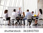 senior businessman leading... | Shutterstock . vector #361843703