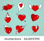 cartoon tattoo style hand drawn ... | Shutterstock .eps vector #361845590