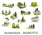 peaceful nature landscapes... | Shutterstock .eps vector #361847573