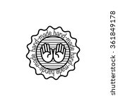 vector hand made badges trendy... | Shutterstock .eps vector #361849178
