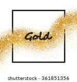 vector golden sparkling falling ... | Shutterstock .eps vector #361851356