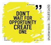 motivational quote poster   do... | Shutterstock .eps vector #361851650