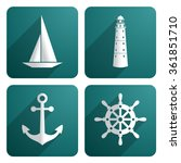 Nautical Icons Set.vector...
