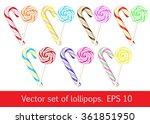 set of lollipops. vector... | Shutterstock .eps vector #361851950