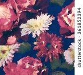 art vintage watercolor floral... | Shutterstock . vector #361852394