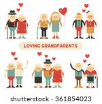 a couple in love grandparents....   Shutterstock .eps vector #361854023