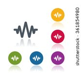 sound wave icon | Shutterstock .eps vector #361854980