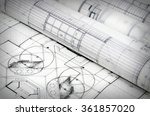 architectural project | Shutterstock . vector #361857020