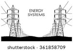 lines of electricity transfers... | Shutterstock .eps vector #361858709