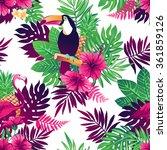 tropical trendy seamless... | Shutterstock .eps vector #361859126
