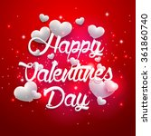 red background valentines day... | Shutterstock .eps vector #361860740