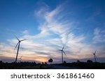 wind turbine power generator | Shutterstock . vector #361861460