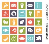 food and drink vector icons set ...