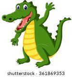 cute crocodile cartoon | Shutterstock . vector #361869353