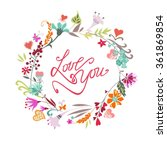 wedding hand drawn vintage... | Shutterstock .eps vector #361869854