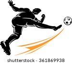 soccer high power kick | Shutterstock .eps vector #361869938