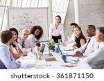 asian businesswoman leading... | Shutterstock . vector #361871150