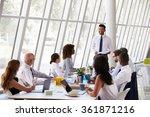 hispanic businessman leading...   Shutterstock . vector #361871216