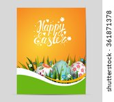 Bright Easter Card. Template...
