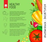 Healthy Food. Vector Backgroun...