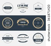 premium quality labels set.... | Shutterstock .eps vector #361871420
