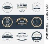 premium quality labels set....   Shutterstock .eps vector #361871420