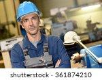 portrait of mature metal worker ... | Shutterstock . vector #361874210