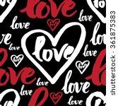 vector handwritten calligraphy...   Shutterstock .eps vector #361875383