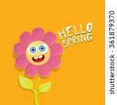 vector spring cartoon flowers...   Shutterstock .eps vector #361879370