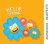 vector spring cartoon flowers... | Shutterstock .eps vector #361879373