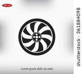 wheel icon | Shutterstock .eps vector #361884098